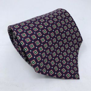 Polo Ralph Lauren Necktie 100% Silk Purple Squares